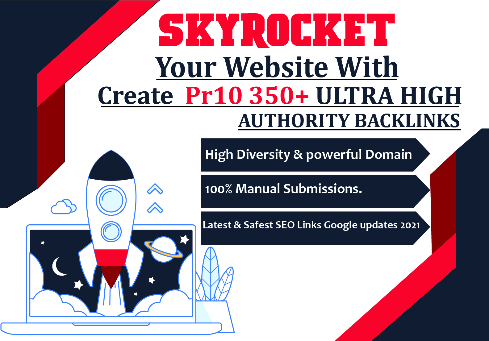 Create Pr10-350+ ULTRA HIGH AUTHORITY Backlinks,  All in one SEO Package