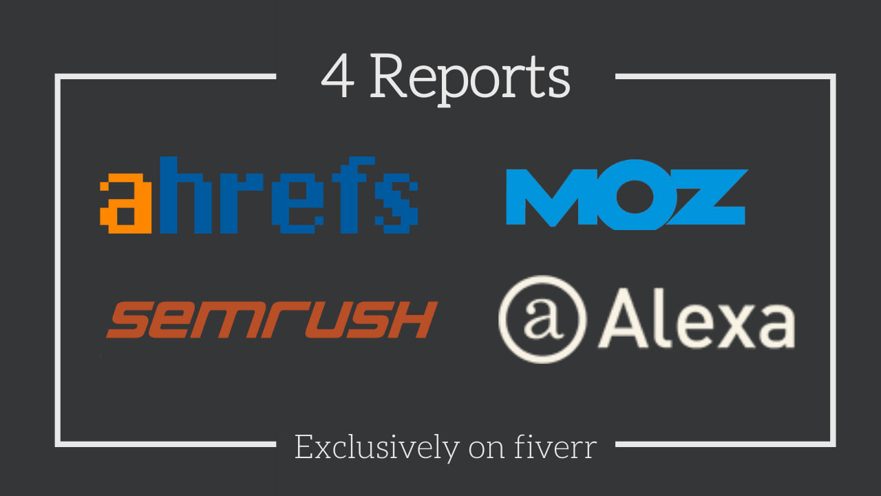 I will provide you ahref moz and Semrush report for 1 website