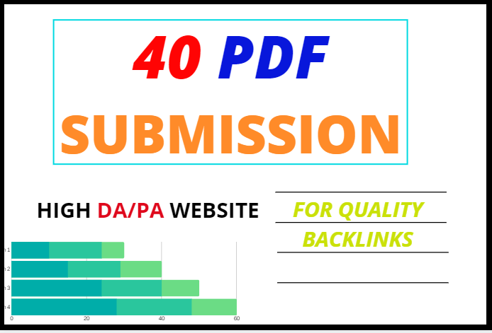 I will do create and submit your PDF in 40 document sharing sites
