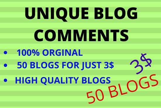 100 percent original high quality blog comments in low price