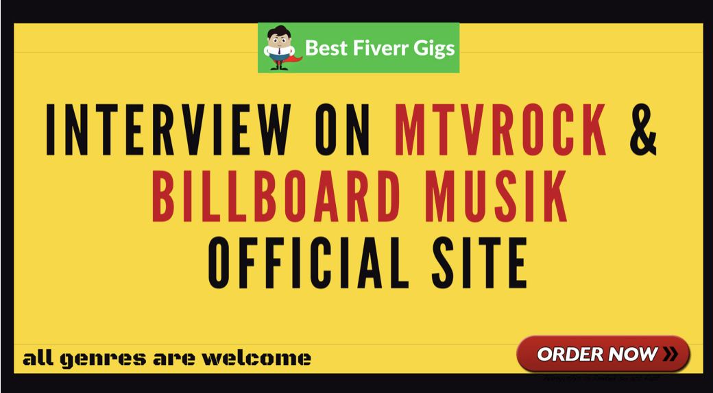 Get a interview on mtvrock or billboard