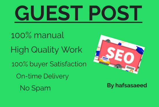 i will do SEO guest post with backlinks