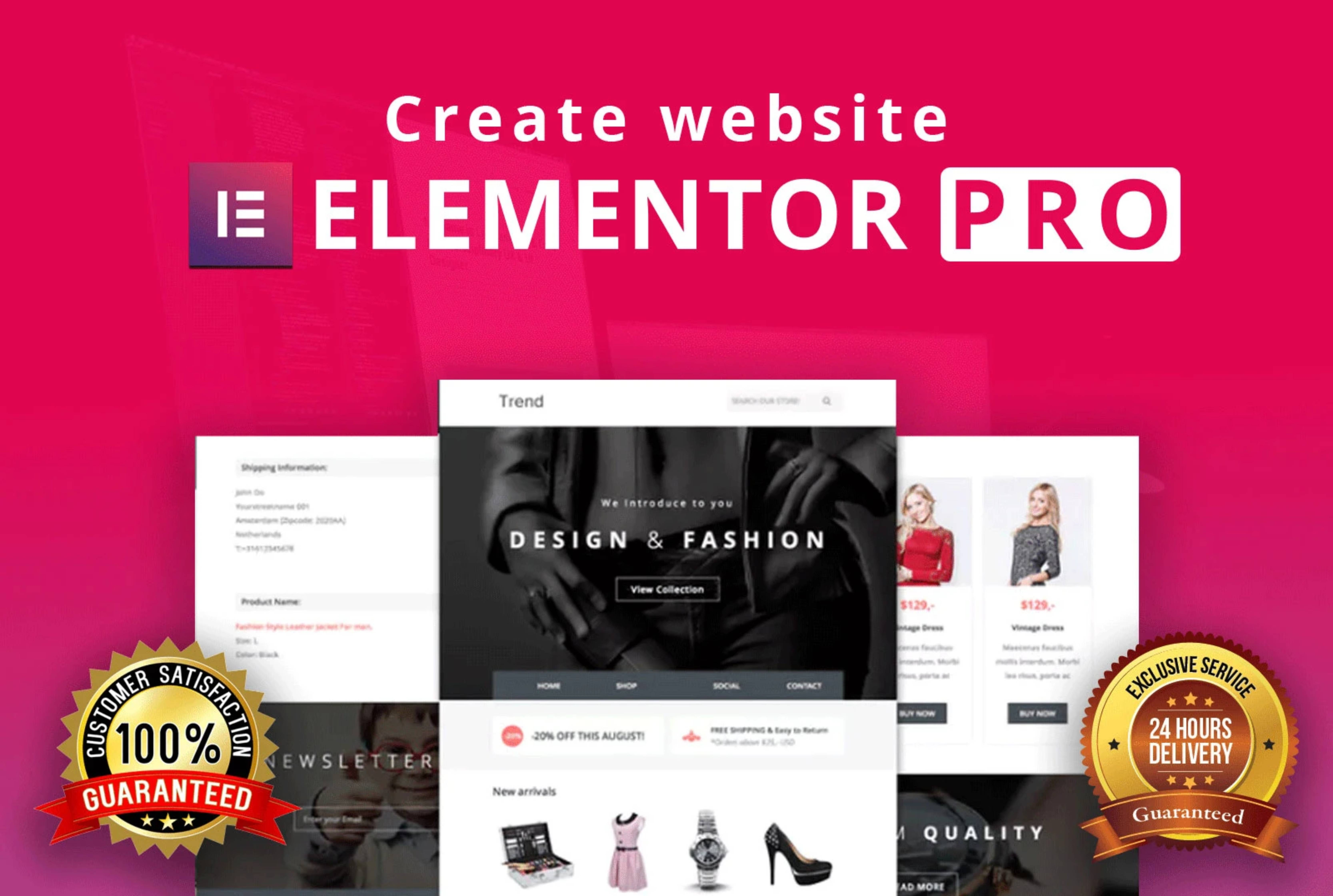 Manually Build WordPress Website Design Using Elementor Pro within 24 hrs for