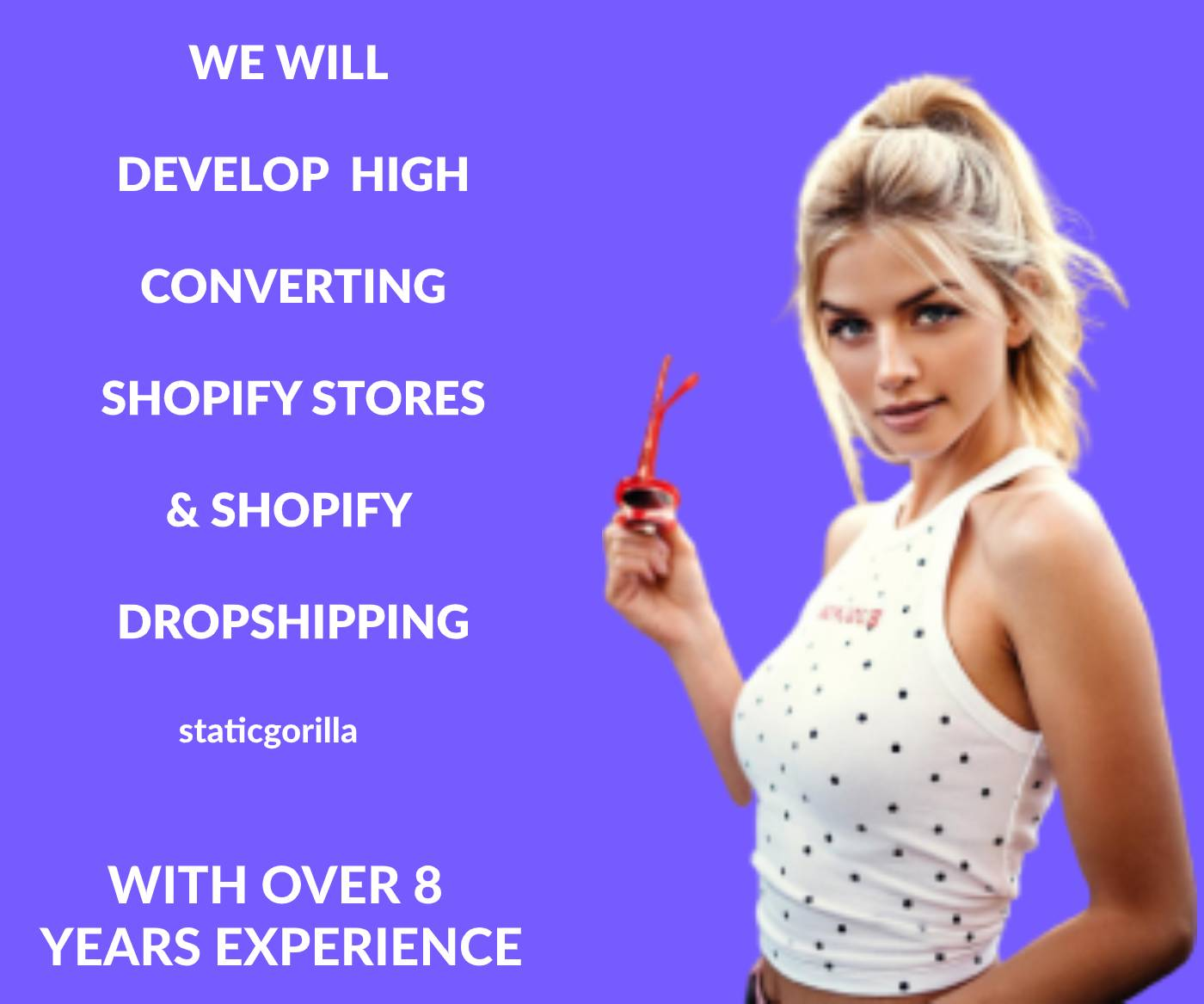 Professionally develop,  design and kickstart your shopify store website