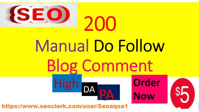 I will provide 200 backlinks unique domain Do follow blog comments