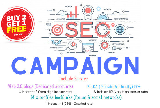 I will give you full SEO campaign service