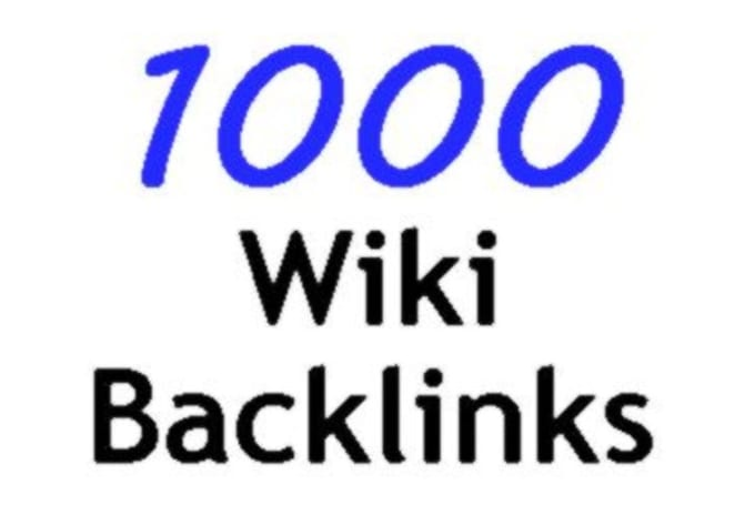 I will Do 1000 Contextual backlinks from wiki websites