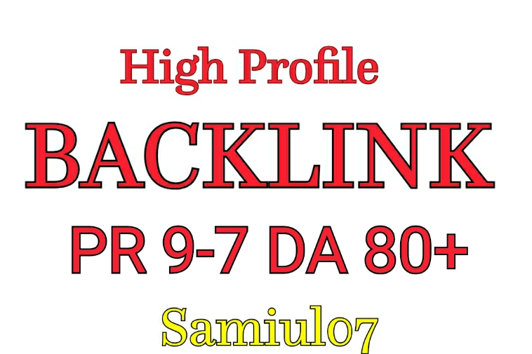 High Quality 30 Profile Backlink DA80+ PR9-7