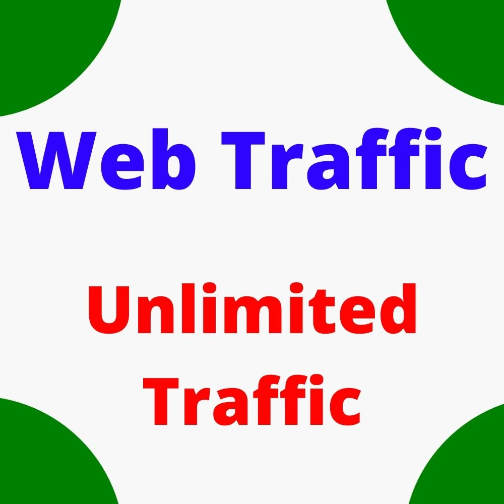 I will do drive real and organic web traffic