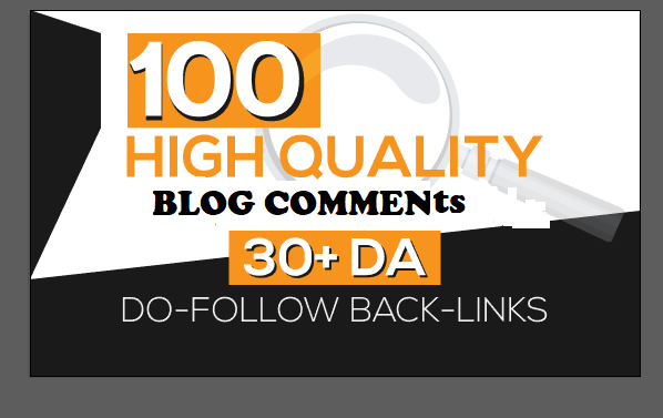 i will do SEO blog comments backlinks DA 30+ sites