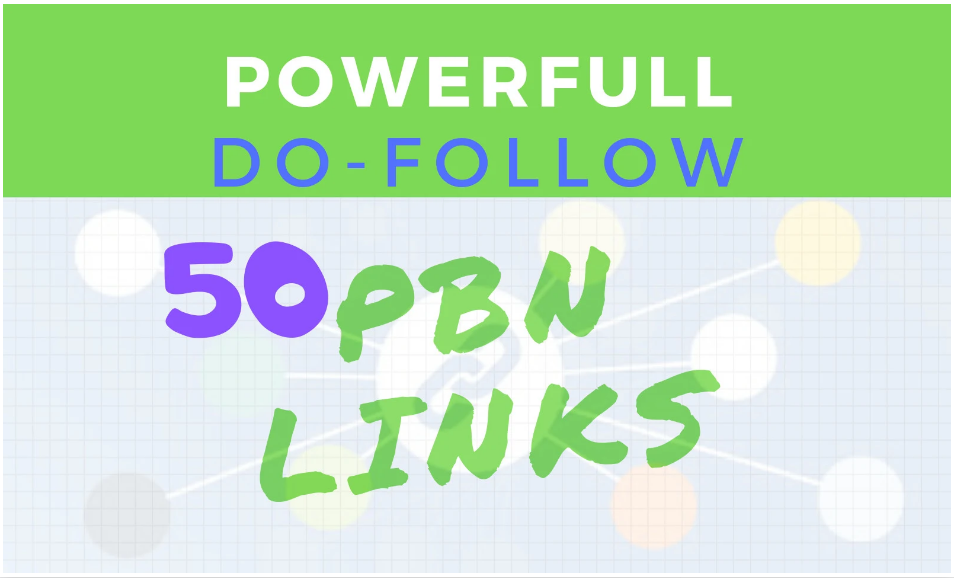 I will make 50 SEO pbn dofollow backlinks