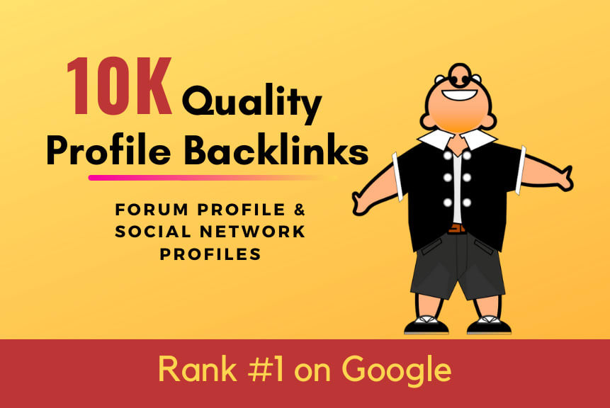 I will create 10k profile backlinks with xrumer