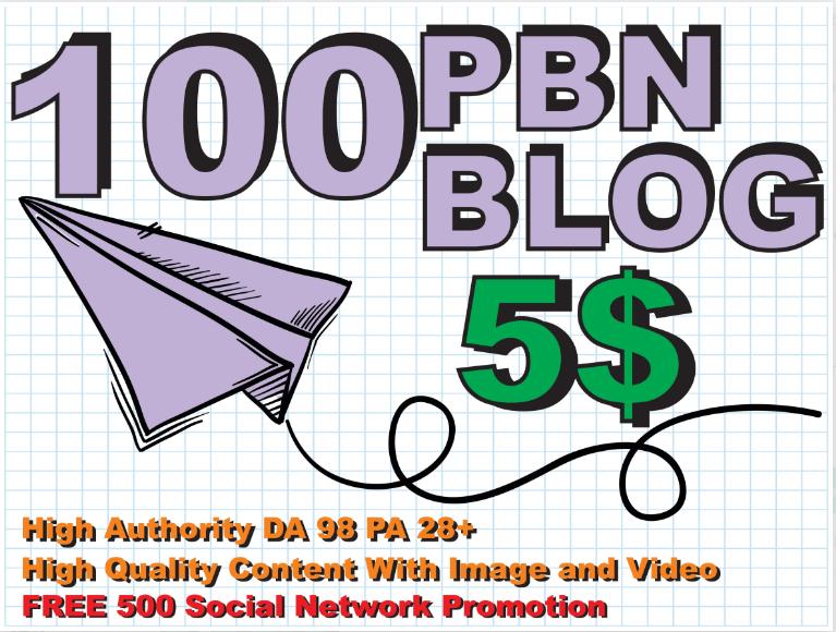 I will make 100 seo pbn dofollow backlink