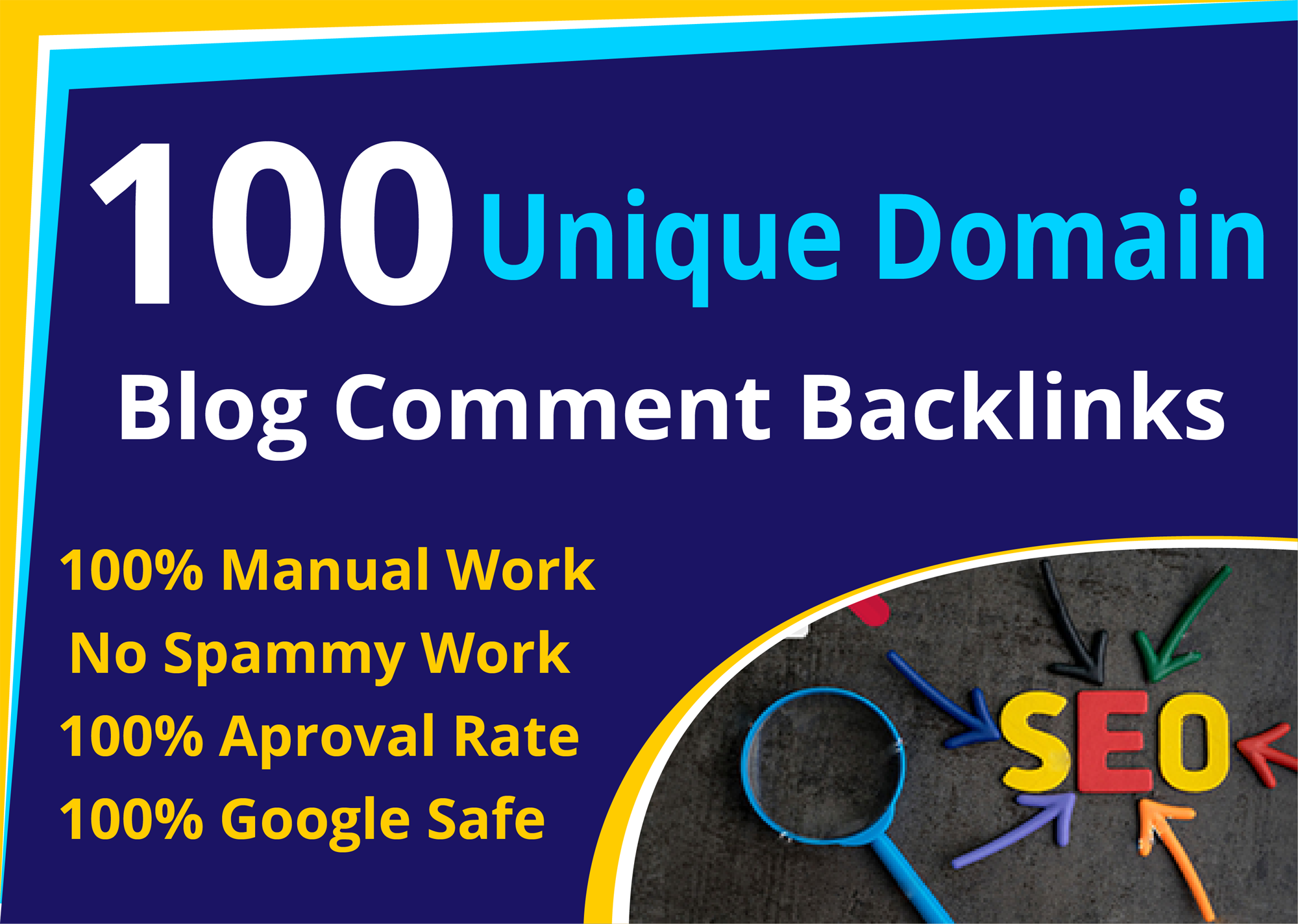 I will do 100 high authority dofollow unique domain blog comments
