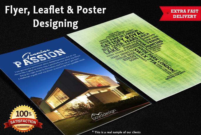 Design your flyer, leaflet, poster, advertisement