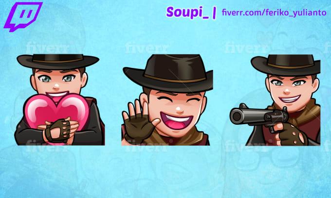 I will create custom twitch emotes