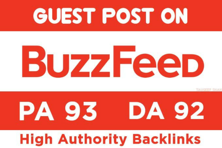 Publish a Guest Post on Buzzfeed. com with 1 backlinks and article Included
