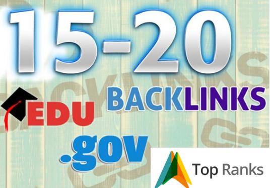 We manually build 15-20. eds-. gov back-links