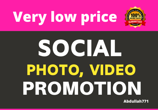 I will Get High Quality Genuine Video Promotion and Social Marketing