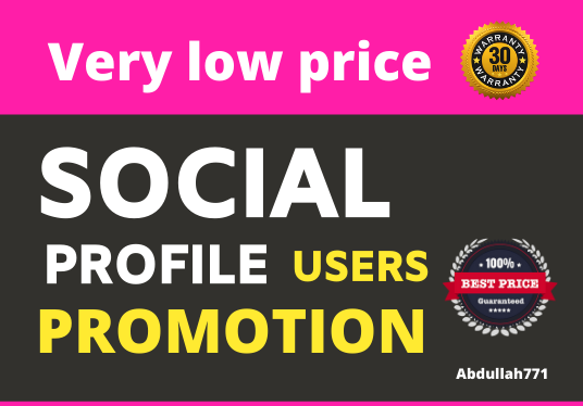 Get Organic Social Profile Users Promotion
