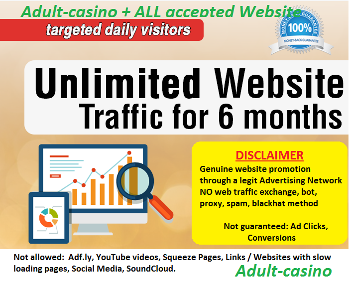 Unlimited Adult Website Traffic for six Month - Adult Website Traffic