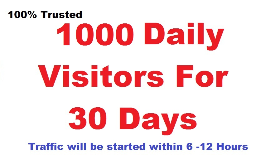 Daily 1000 real traffic Worldwide for ONE MONTH for 3