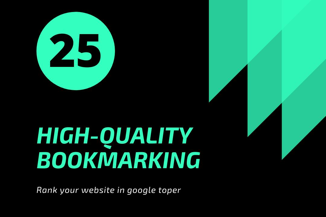 Bookmark 25 - DA40-100-Backlink 25 Google Top High DA PA Site