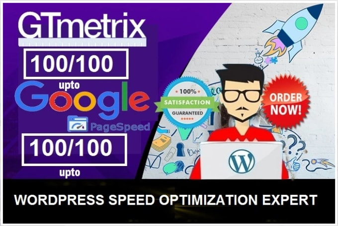 I will do word press website speed optimization,  increase page speed