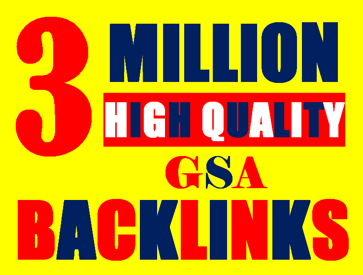 3 Millions Backlinks campaign with GSA Ser for ranking