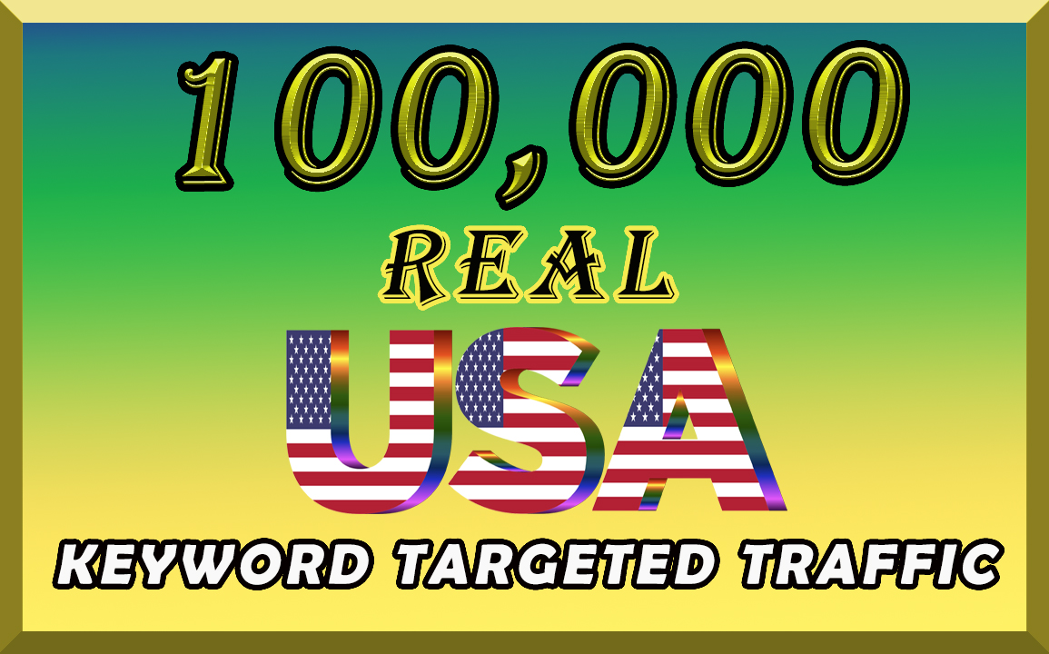 I will send organic 100k keyword targeted traffic from USA