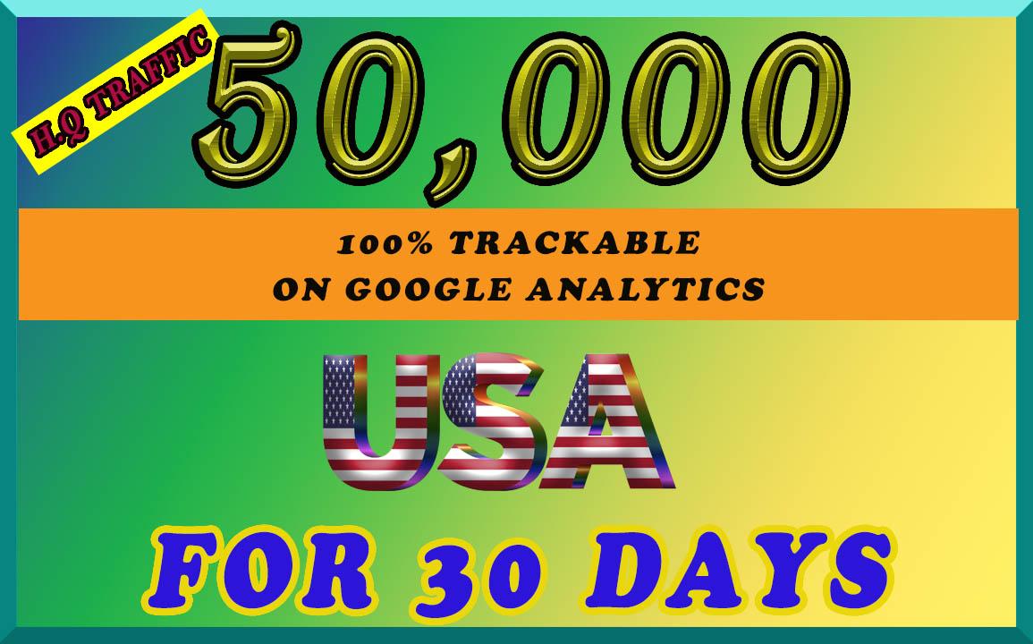 I will send organic 50k Traffic from USA