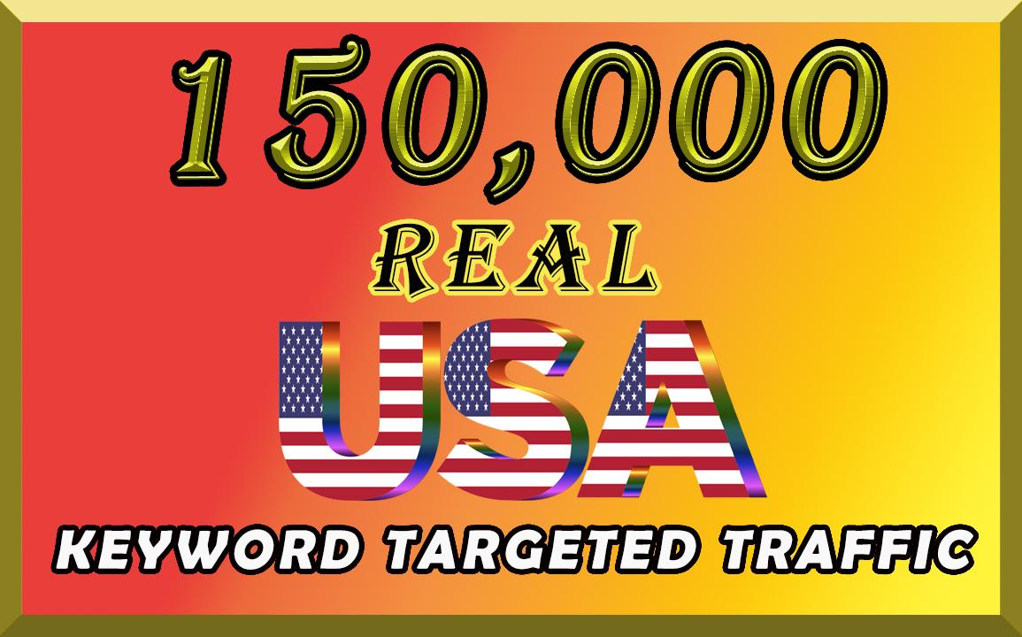 I will send organic 150k keyword targeted traffic from USA