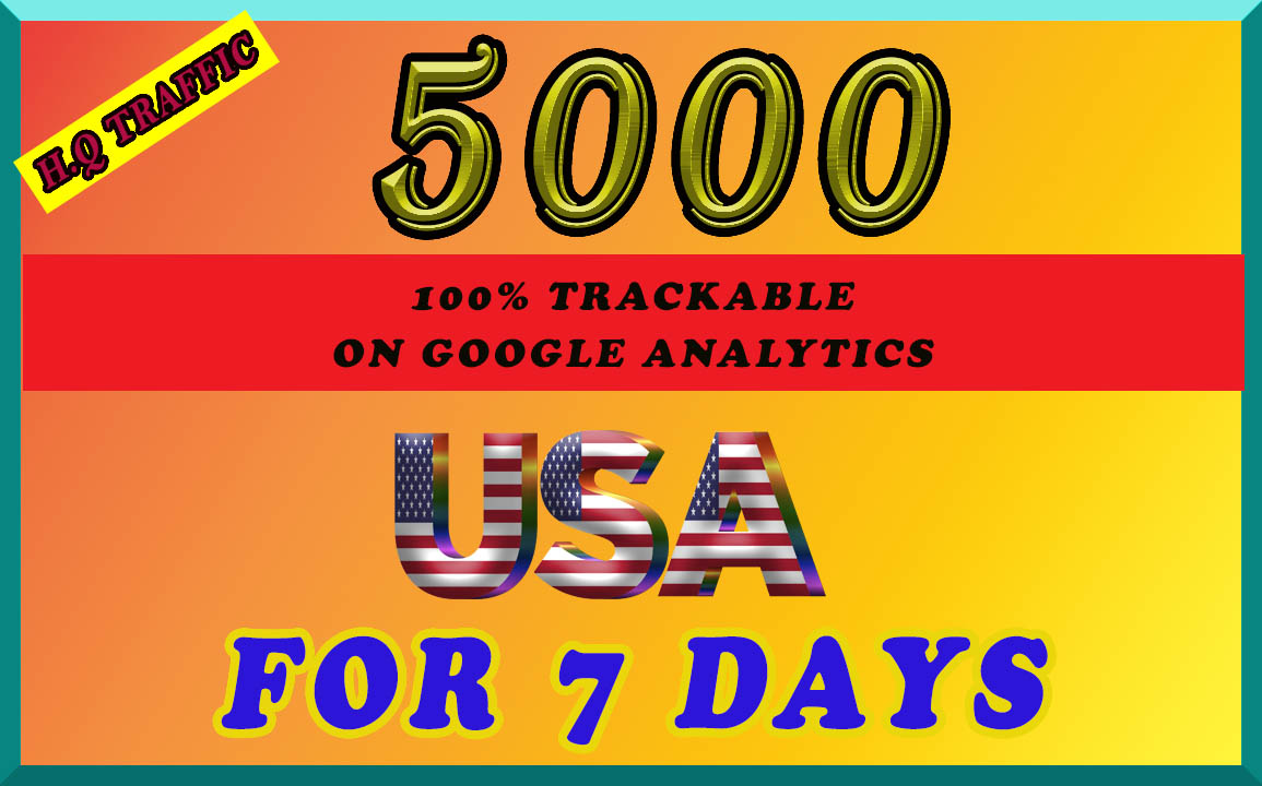 I will send organic 5k targeted traffic from USA