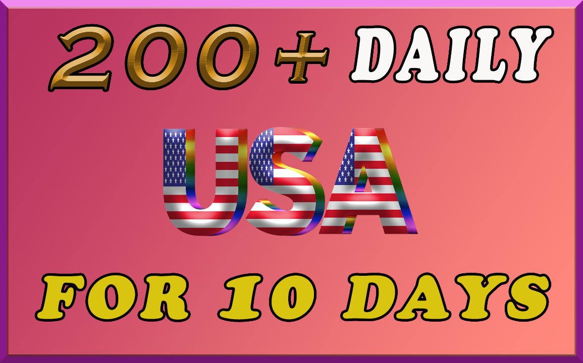 200 daily USA keyword targeted traffic for 10 days