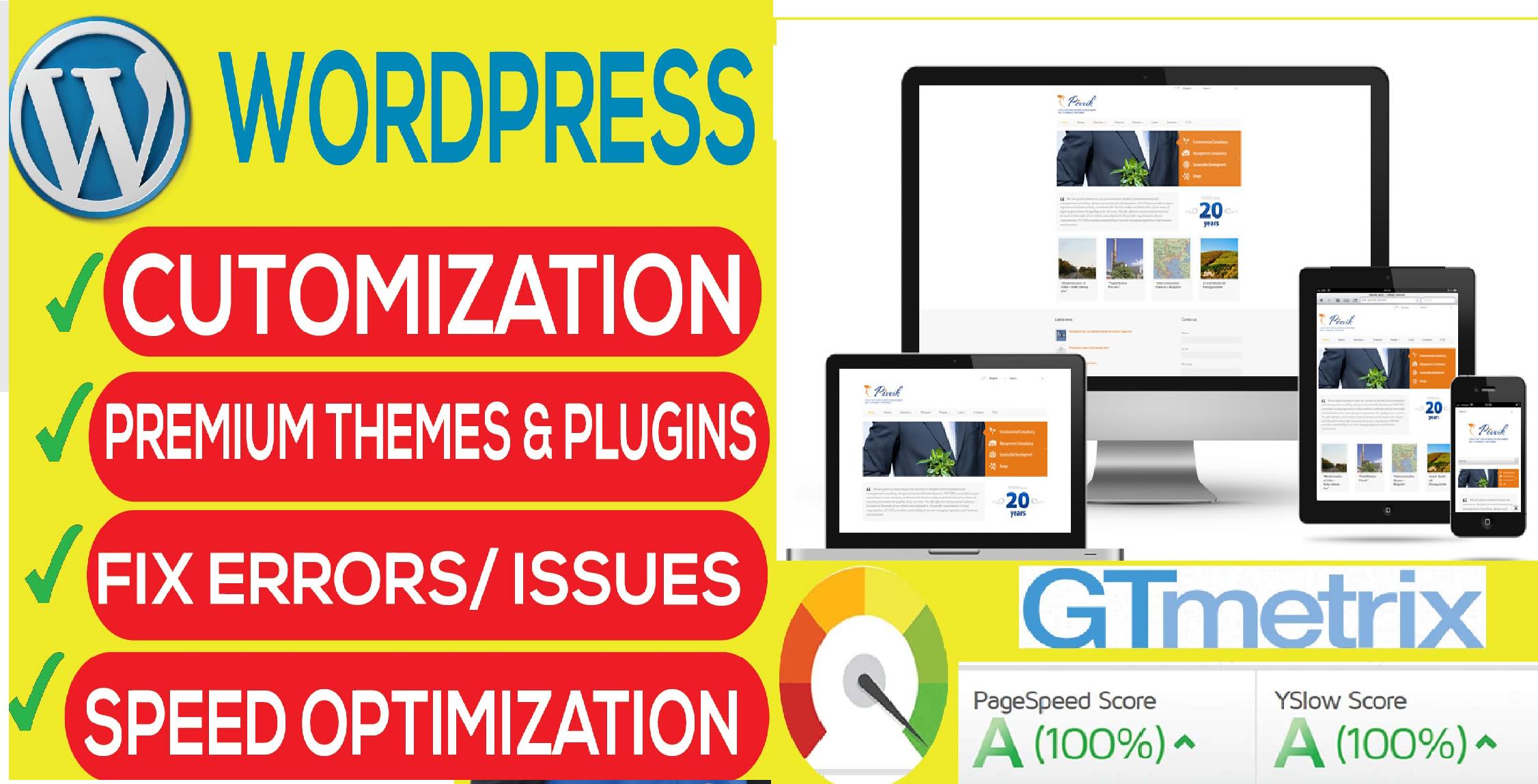 I will build wordpress website responsive and SEO friendly