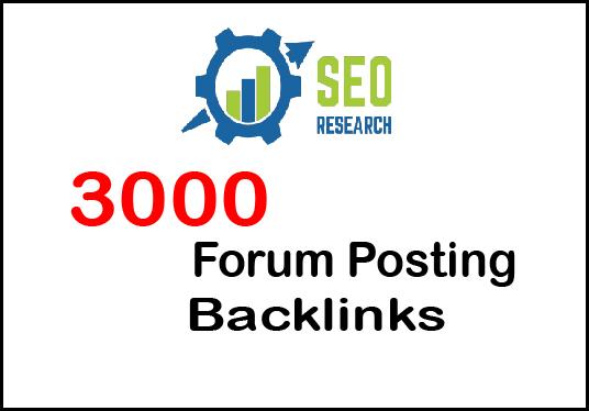 I will Provide 3000 Niche relevent Forum Backlinks