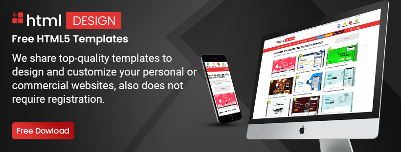 Download Free HTML Templates to Create Responsive Website