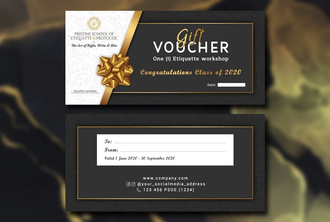 I will design gift voucher,  coupon and ticket