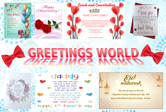 I will design greeting card and invitation card for you