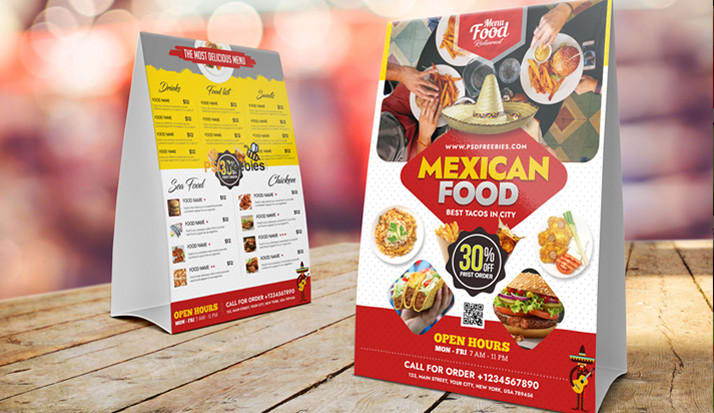 I will do restaurant menu design,  digital menu design or menu board