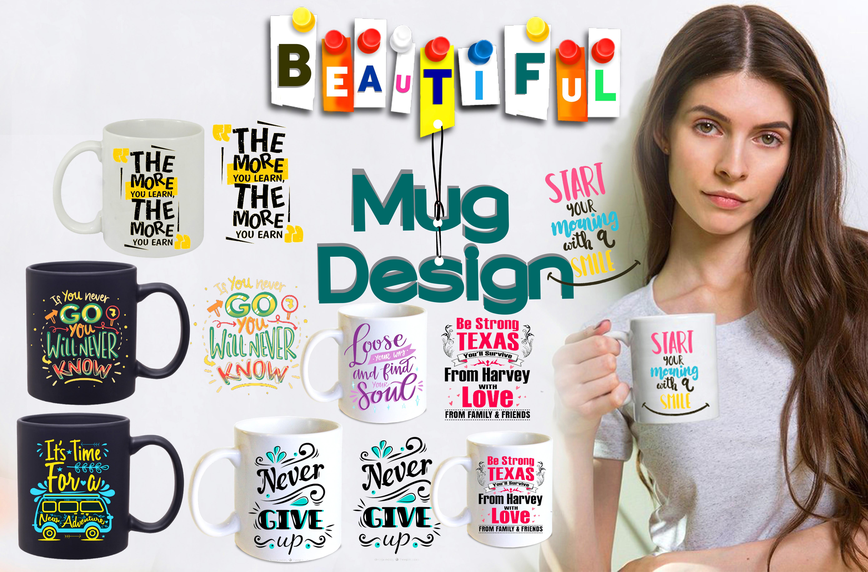I will create an awesome custom mug design