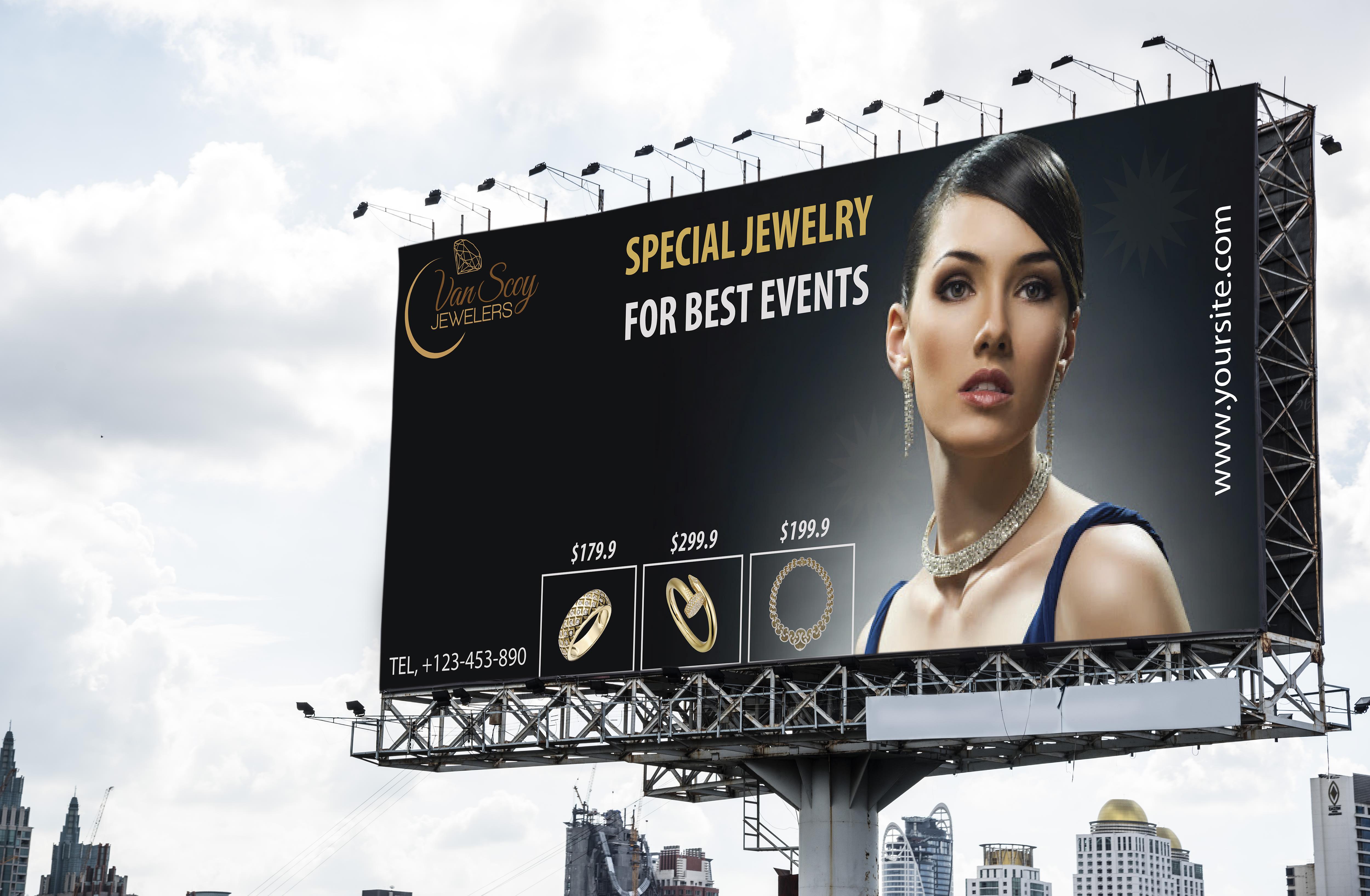 I will design a billboard,  roller banner,  yard sign,  outdoor ads