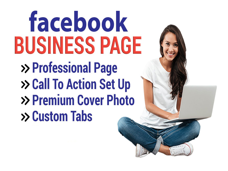 I will create a professional facebook page for you