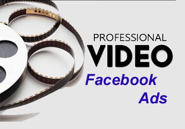I will create facebook video ads