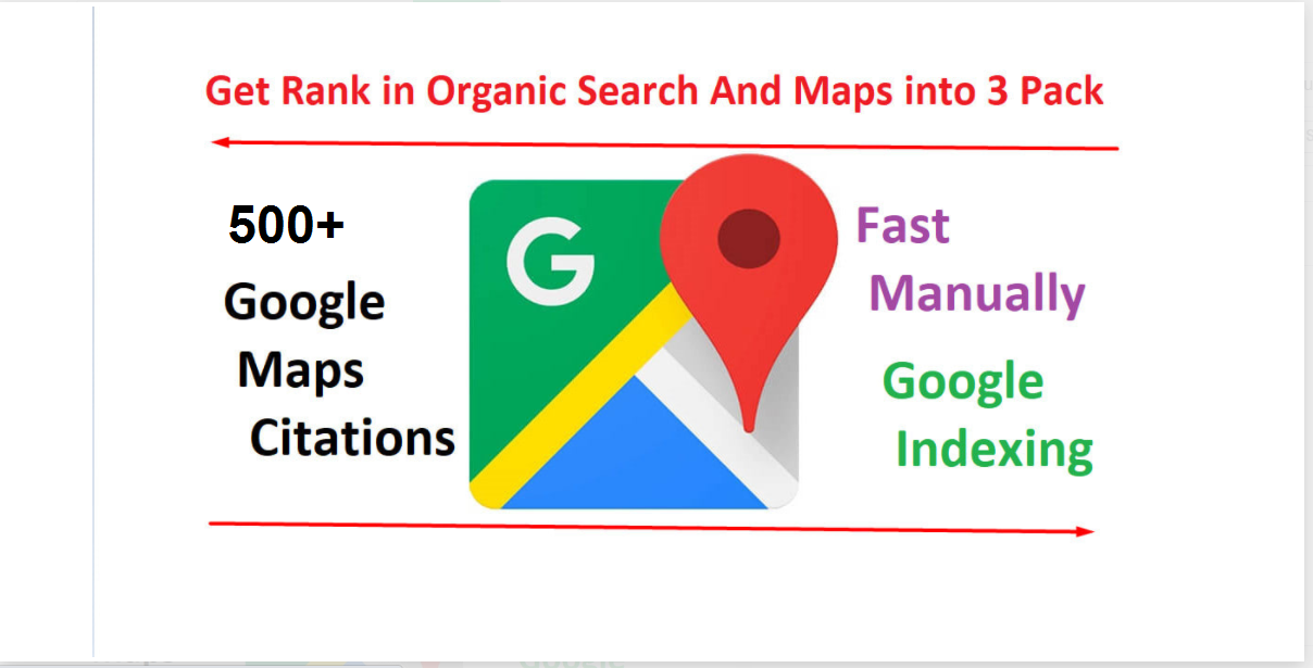 Rank your GMB,  Business & website on google with 500 google maps citations