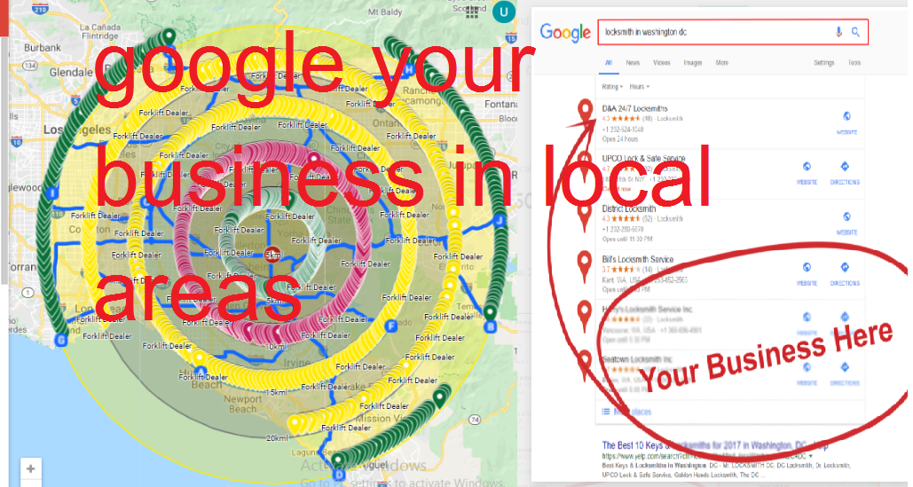 google your business in local areas for ranking 4000 google map citations local seo