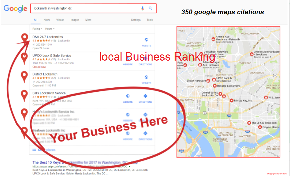 I will create 350 google maps citations for local business local SEO
