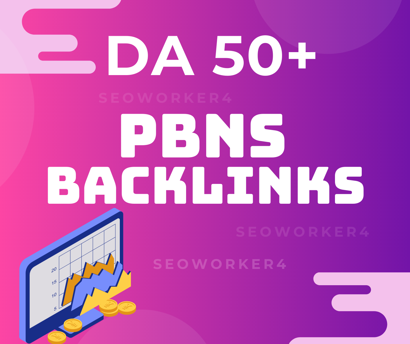 I will build 10 powerful high metrics dofollow backlinks DA 50 plus