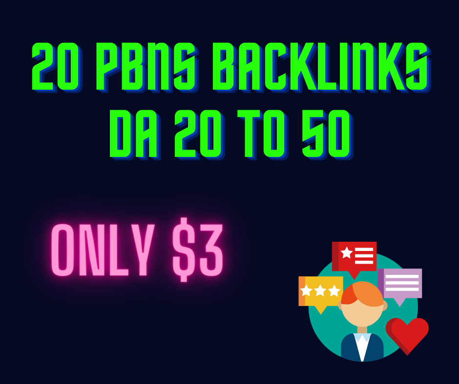 I will provide 20 pbn home page link high da pa