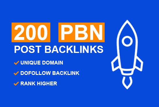 I will 200 home page pbn seo backlinks permanent posts